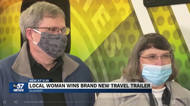 Local Woman Wins Brand New Travel Trailer